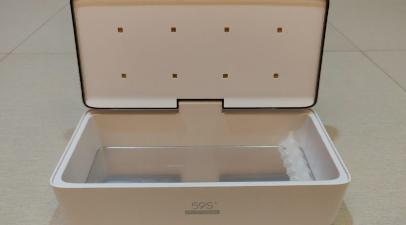 Beneath the lid are eight (8) 260-280nm LEDs.