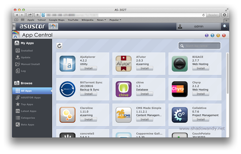 App Central contains hundreds of App to expand the capabilities of your ASUSTOR NAS