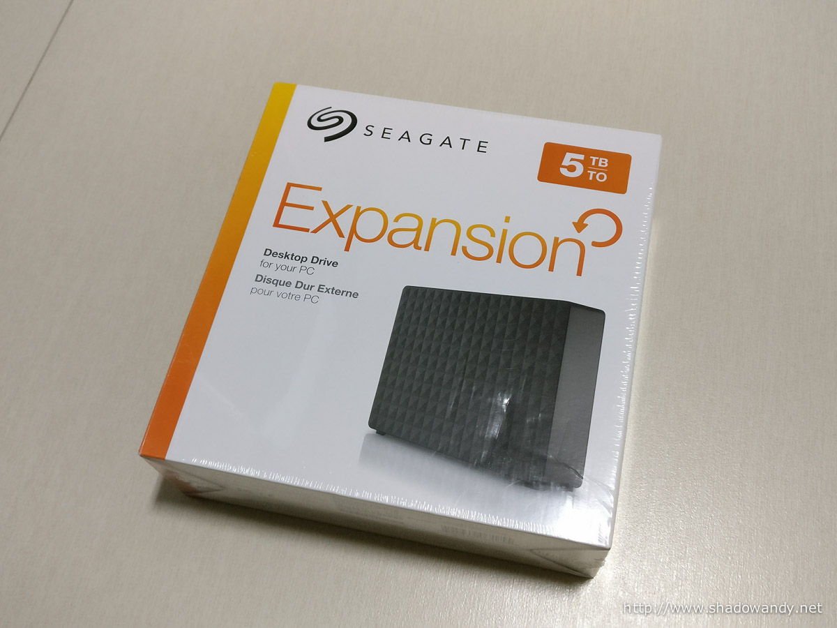 This is the Seagate Expansion 5TB Desktop Drives. The hard disk inside is a drive managed SMR drive