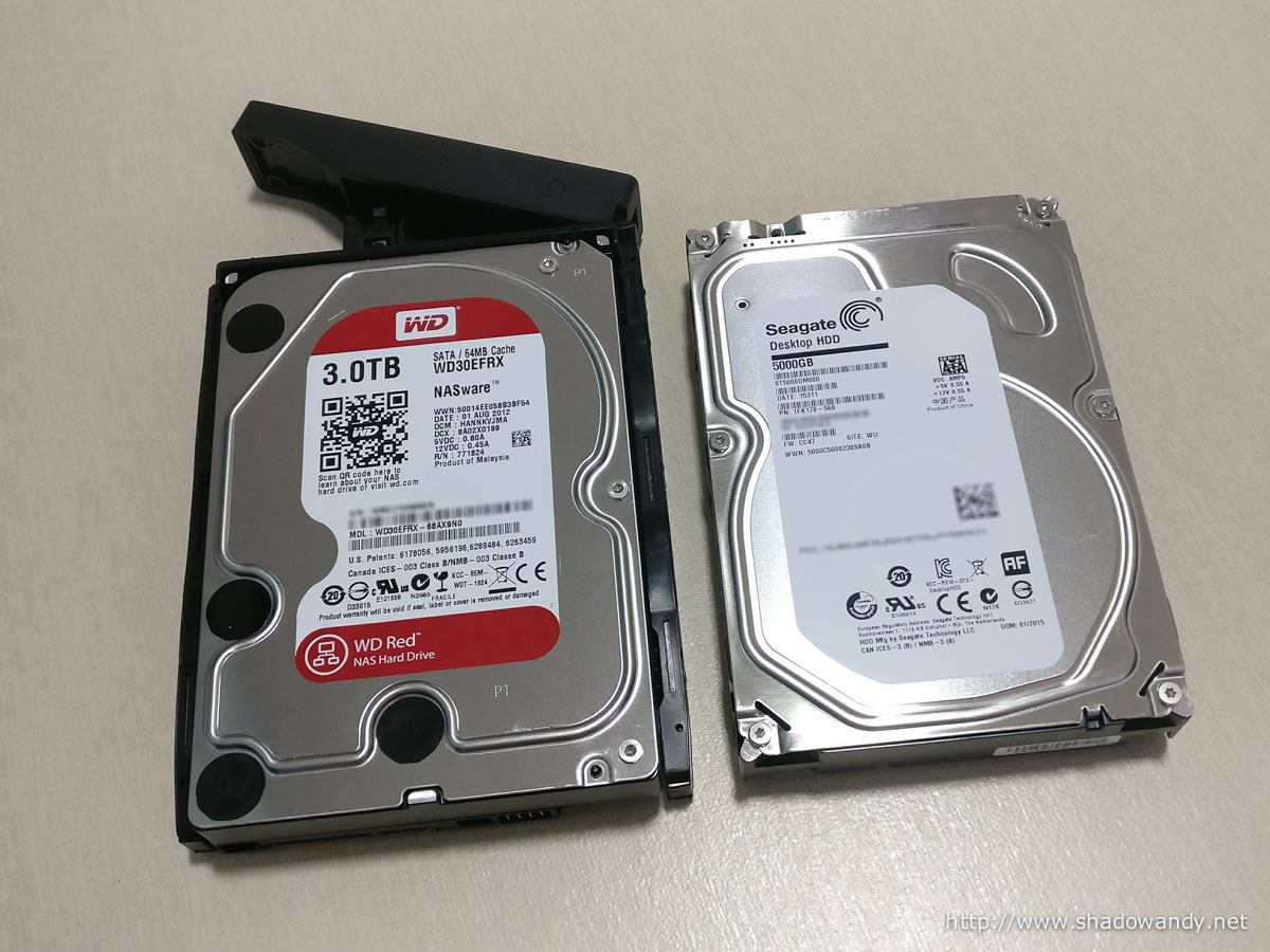 Out goes the Western Digital 3TB and in goes the Seagate 5TB SMR drive