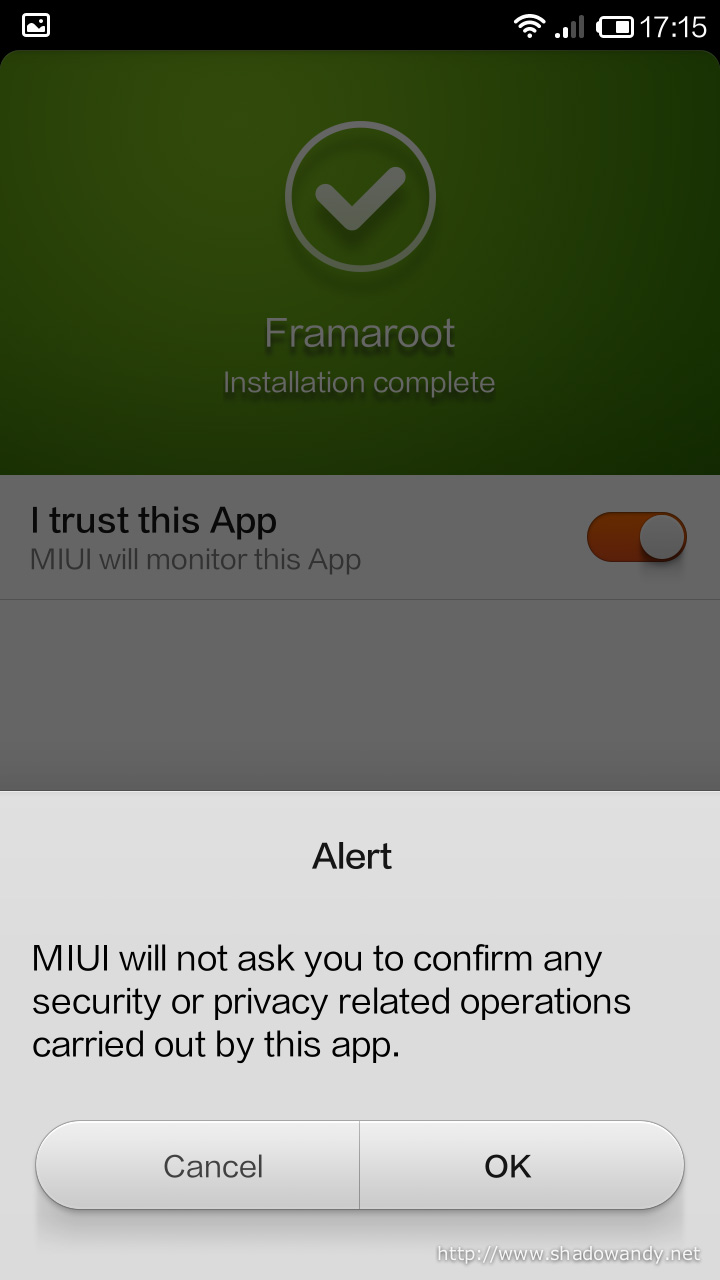 """Acknowledge the alert by choosing """"OK"""". Proceed to launch the app by choosing """"Launch"""""""