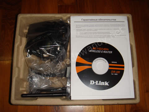 DIR-320 package contents