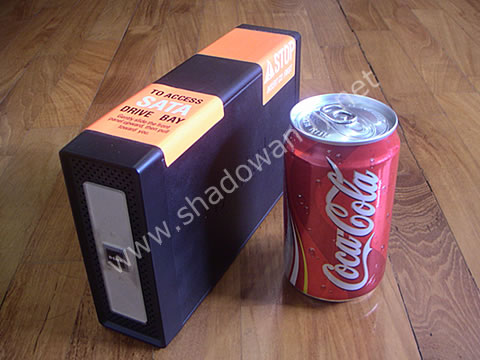 DNS-313 - Size comparison with a can of Coke