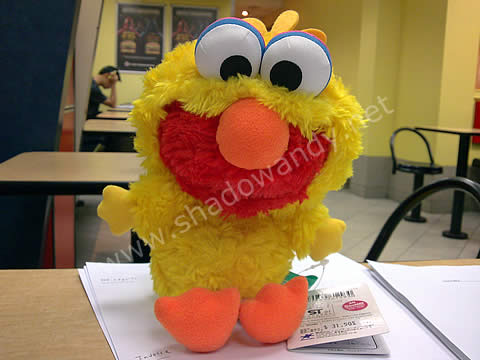 Elmo in Big Bird suit
