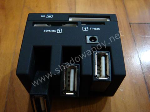 Internal USB Hub - Built in card reader