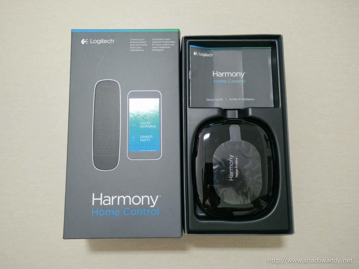 The Logitech Harmony Home Control - Universal Remote for your home.