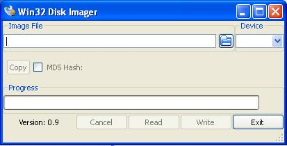 Win32 Disk Imager for writing the FlashCast bin to USB drive